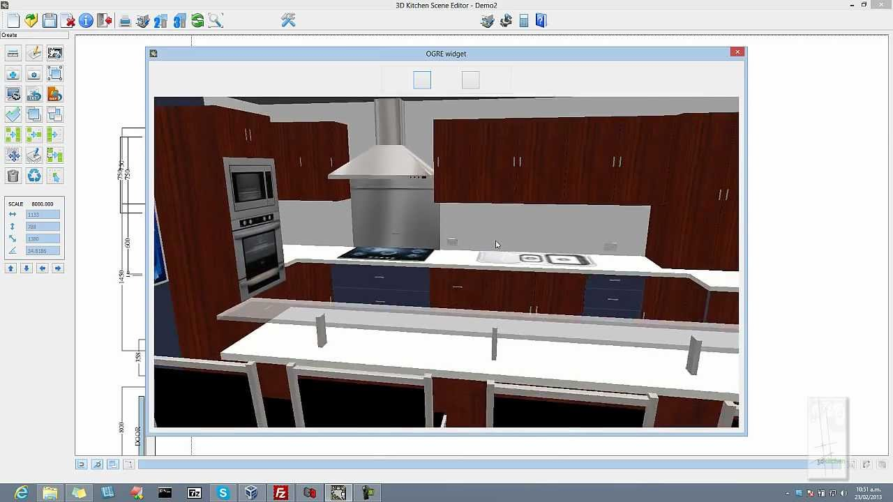 Kitchen Designer Software 3d kitchen design software (3dkitchen) - youtube
