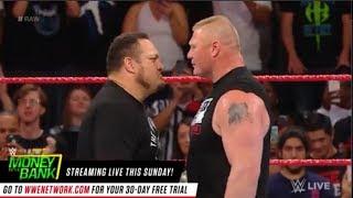 WWE Raw 12 June 2017 Brock Lesnar vs Samoa Joe full Clash