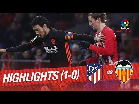 Resumen de Atlético de Madrid vs Valencia CF (1-0)