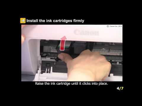 PIXMA MG2920: Setting the ink tanks