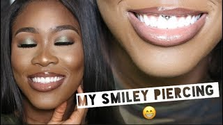 ALL ABOUT MY SMILEY PIERCING PAIN, HEALING, PRICE, PIERCER, JEWELLERY AND MORE!