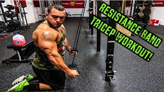 Intense 5 Minute Resistance Band Tricep Workout
