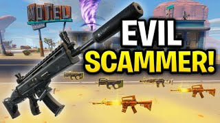 Evil African Rebel Scams Himself! (Scammer Get Scammed) Fortnite Save The World
