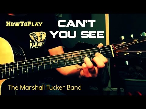 Guitar Lesson: Can't You See - Marshall Tucker Band (Easy Chords)