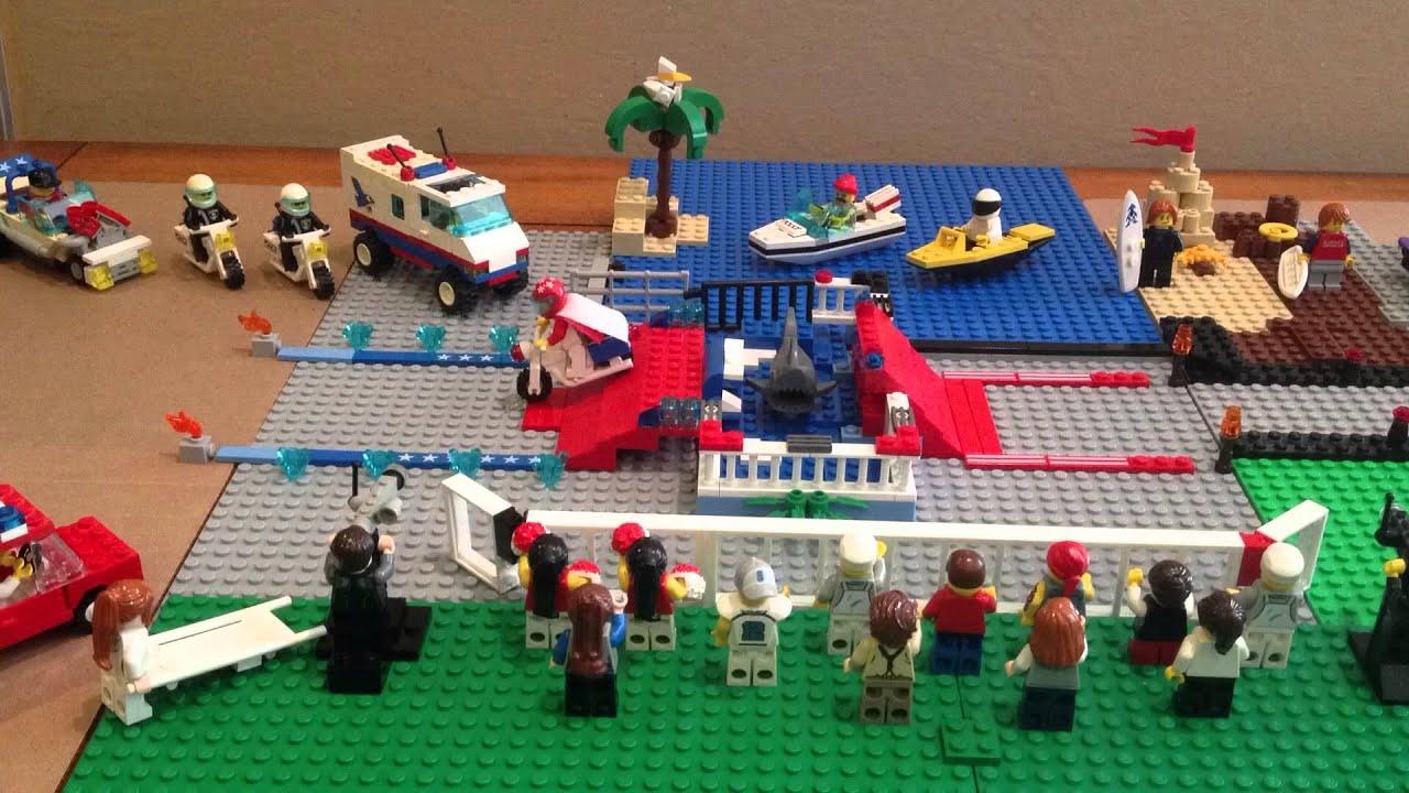 Murdercycles Evel Has Jumped The Shark: Lego Evel Knievel Shark Jump