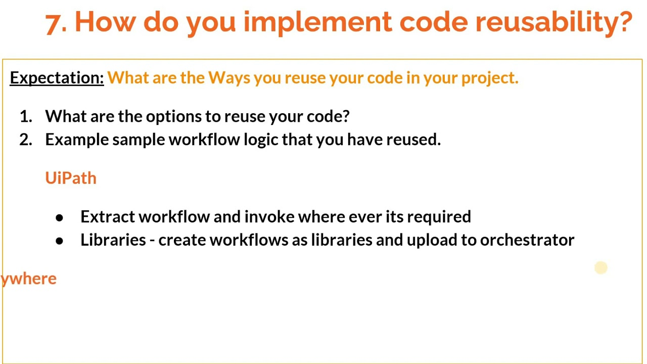 How to answer 'Are you using any source control tools to manage to your RPA code ?'