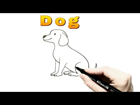 HOW TO DRAW A DOG (step by step) EASY WAY