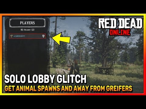 HOW TO MAKE ANIMALS SPAWN IN RED DEAD ONLINE - SOLO LOBBY GLITCH