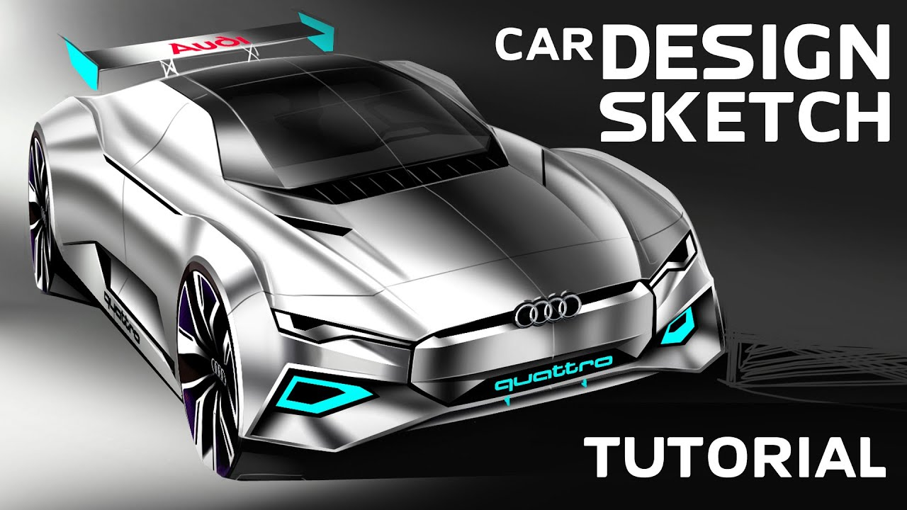 Superior CAR DESIGNER How To Sketch A Car In Photoshop PL/ENG   YouTube
