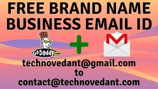 Create free business email id with your brand name and connect to Gmail account (Hindi)