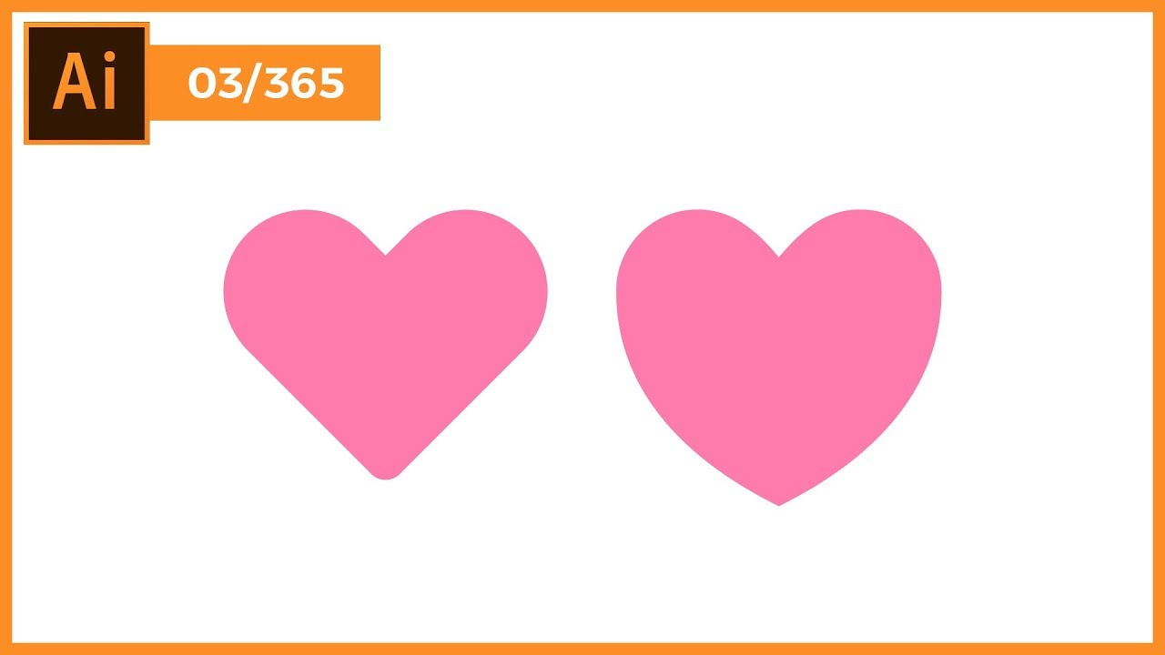 Heart Shape In Illustrator #03/365 | Thuy Uyen Design