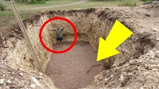 See How The Hole This Man Dug In His Yard Made His Neighbors Jealous