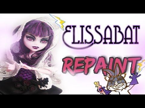 Monster high Elissabat Vamp Repaint Mad scientist Doll Customs Episode 7