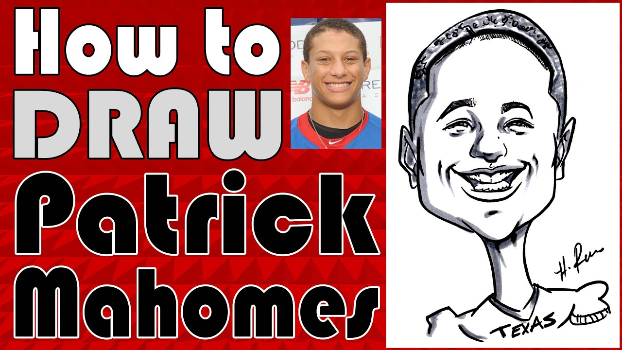 How To Draw A Quick Caricature Patrick Mahomes YouTube