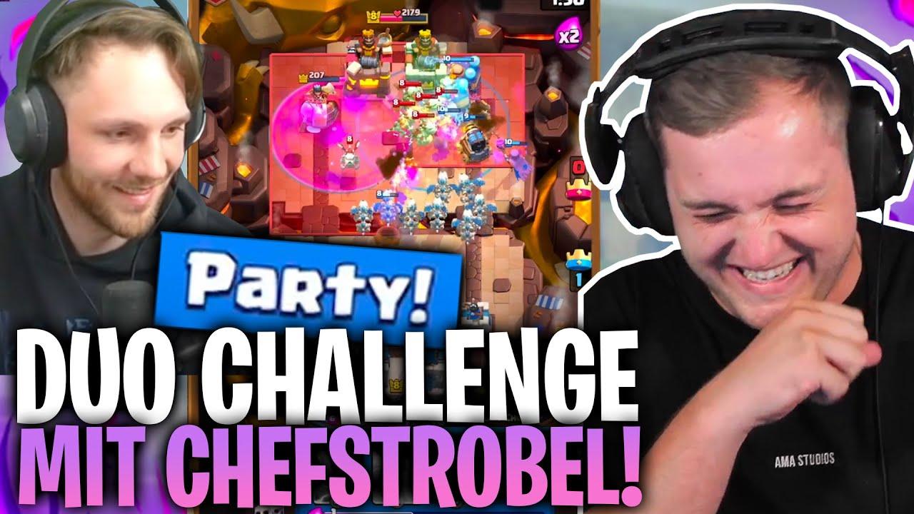 😂😅 WAS macht CHEFSTROBEL da?! |Next Level TACTICS in der PARTY CHALLENGE!