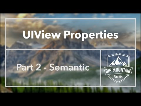 UIView Properties Part 2 - Semantic/semanticContentAttribute (iOS, Xcode 8)