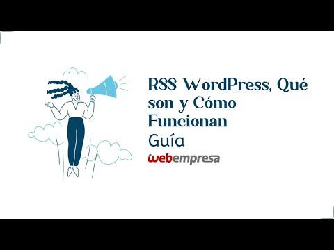 Configurar RSS Feed en WordPress