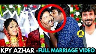 VIJAY TV KPY Azhar Marriage Video | Sivakarthikeyan , Vijay Sethupathi Spotted at KPY Azhar Wedding