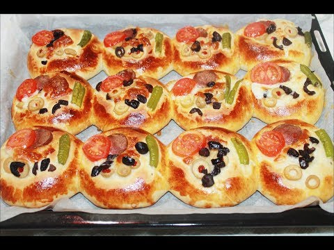 Yumuşacık Pizza Poğaça Tarifi  - Kolay Pratik Pizza Tarifi