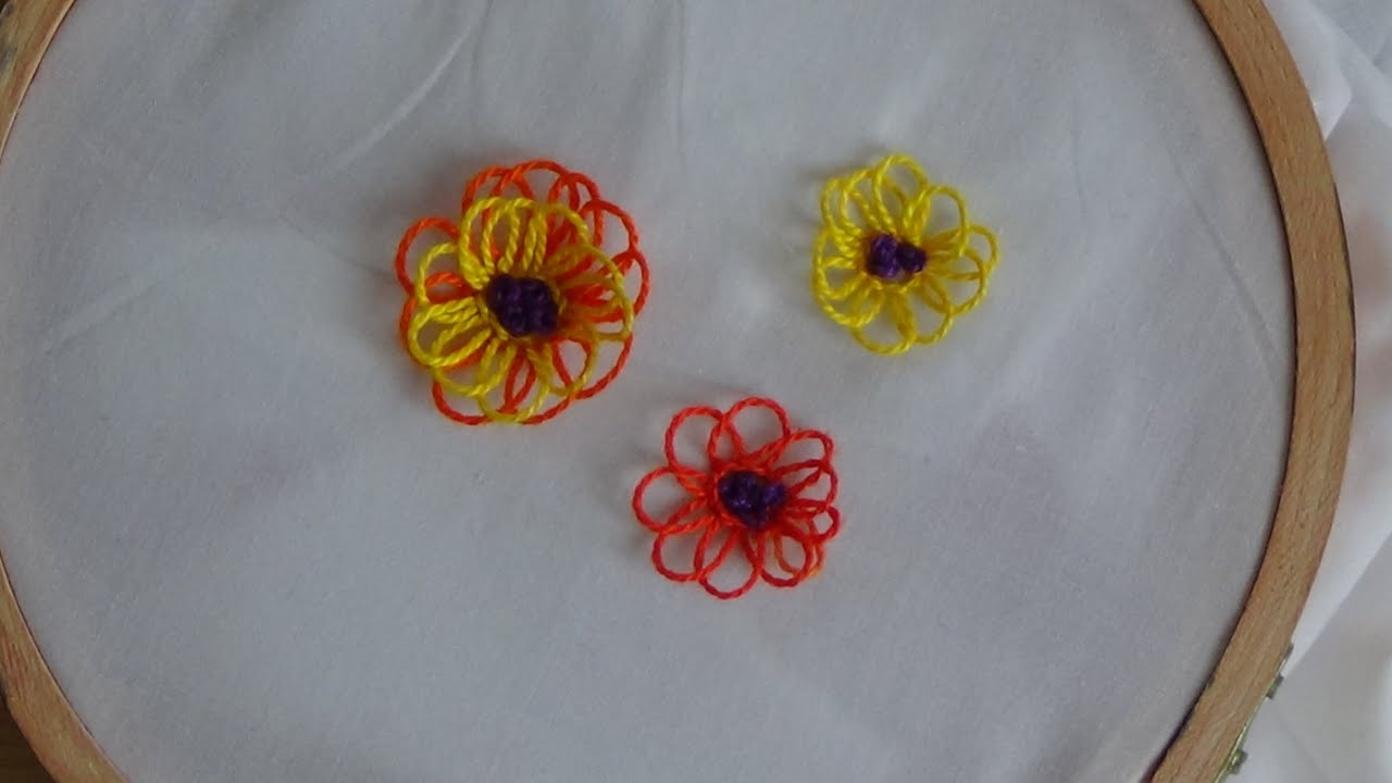 Hand Embroidery Looped Stitch Youtube