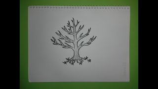 How to draw a tree without leaves | Drawing tutorial