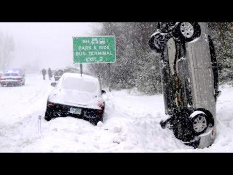 SNOW VS CARS   The Worst Car Accidents, Biggest Snow Car Pile up, & Spin out