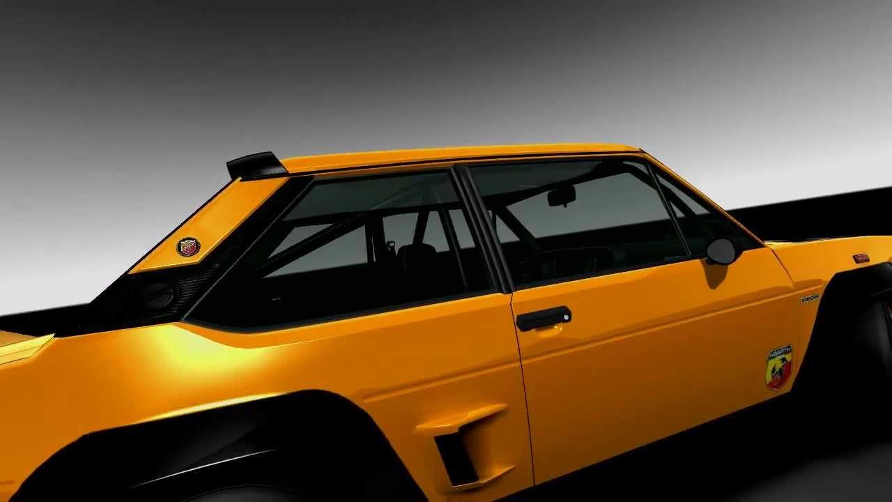 Fiat 131 Mirafiori Abarth Rallye V12 Car Presentation