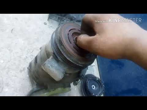 Gmc Sierra compressor clutch change without remove the compressor out || Bilal Auto ||