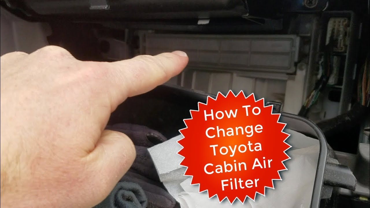 How To Change Replace Cabin Air Filter Toyota 4runner Youtube 2000 Camry Fuel Location