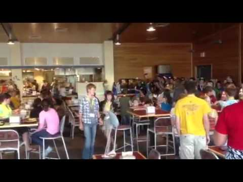 2012 University of Wyoming Summer Music Camp lunch flash mob