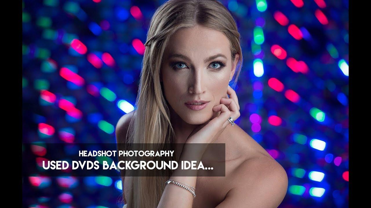 Headshot Photography - Used Dvds Background Idea