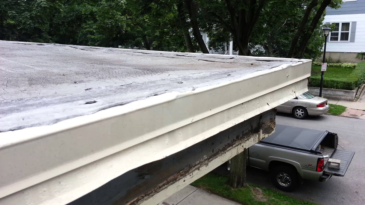 Flat Roof Edge Leaking For A Wile Youtube