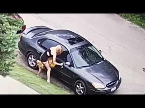 Girl Vandalizes Car Oswego IL