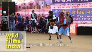 Sword fight by Nihangs of Punjab - International Gatka Festival