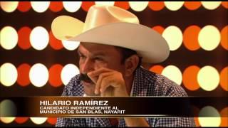 LA ENTREVISTA POR ADELA 12 DE JUNIO 2014 HILARIO  RAMIREZ CANDIDATO INDEPENDIENTE MUN. SAN BLAS