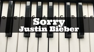 Sorry - Justin Bieber | Easy Keyboard Tutorial With Notes (Right Hand)