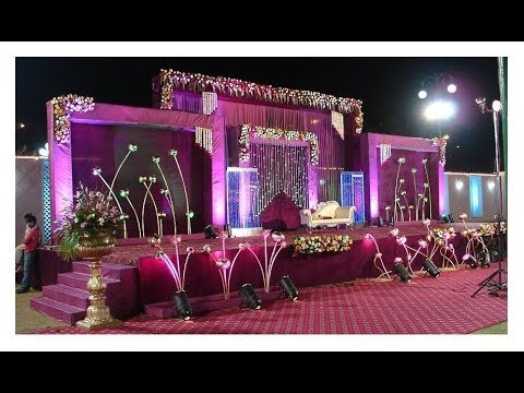 Top 10 Wedding Reception Stage Decorations wedding stage decoration with flowers and lighting