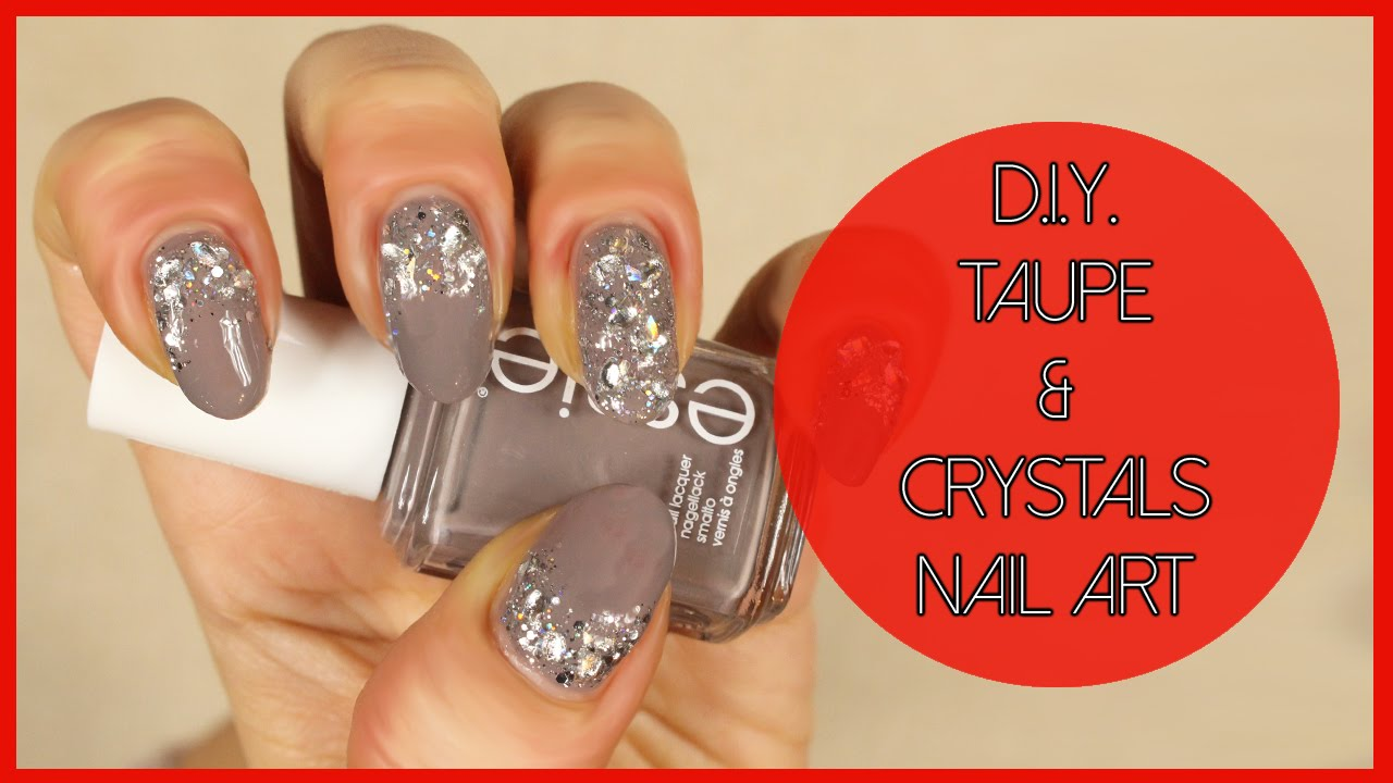 Dark togepi pictures to pin on pinterest pinsdaddy - Diy Taupe Crystals Nail Art Nail Art Fai Da Te In Grigio E Diy Taupe Crystals