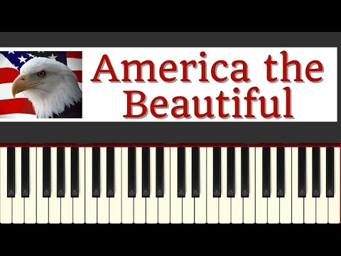 Easy Piano Tutorial: America the Beautiful with free sheet music