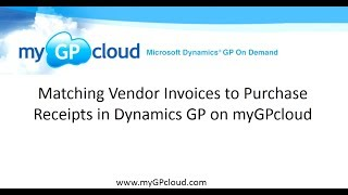 Matching Vendor Invoices to Purchase Receipts