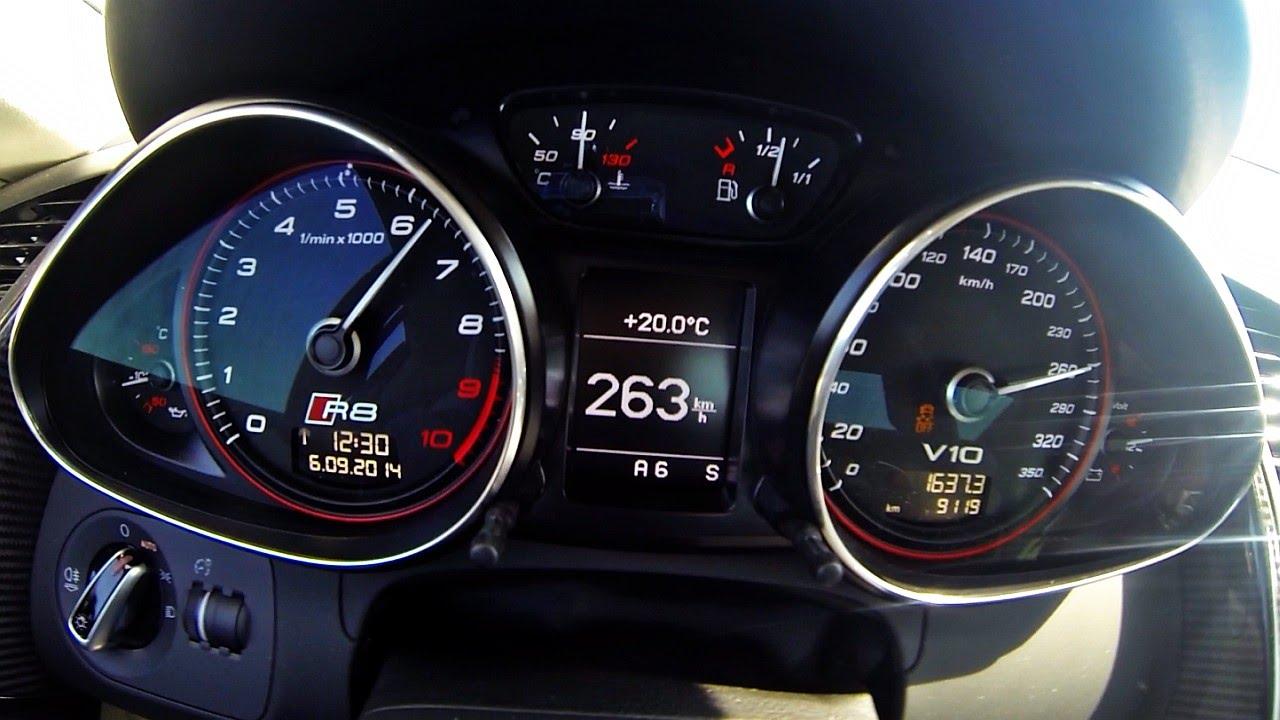 Audi R8 V10 Plus S-Tronic Launch Control Acceleration 0 ...