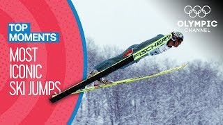 Top 5 most iconic Olympic Ski Jumps | Top Moments
