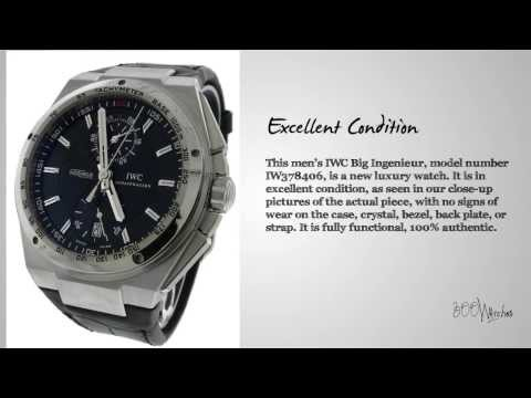 IWC Big Ingenieur IW378406 Stainless Steel Automatic Chronograph Watch
