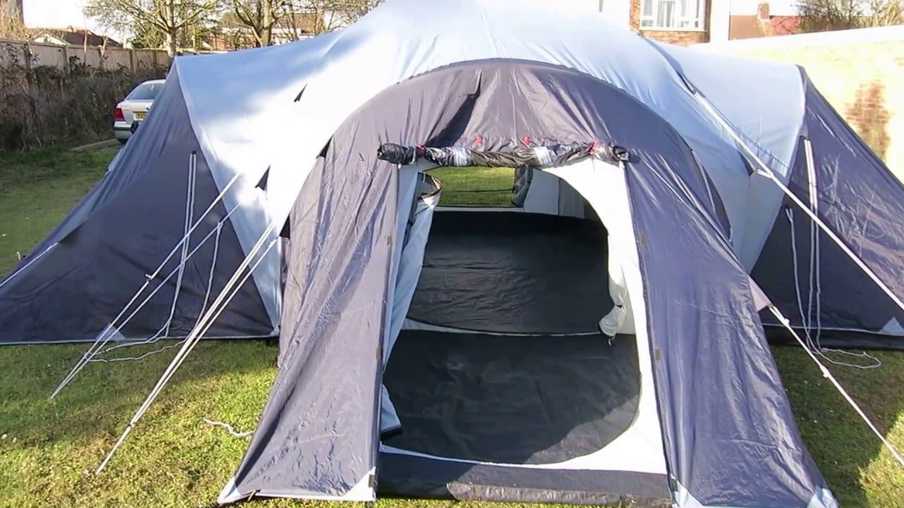 Vango Diablo 900 9 man family tent & Vango Diablo 900 9 man family tent - YouTube