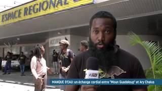 """Réunion entre """"Moun Gwadloup"""" et Ary Chalus à l'espace régional du Raizet ..."""