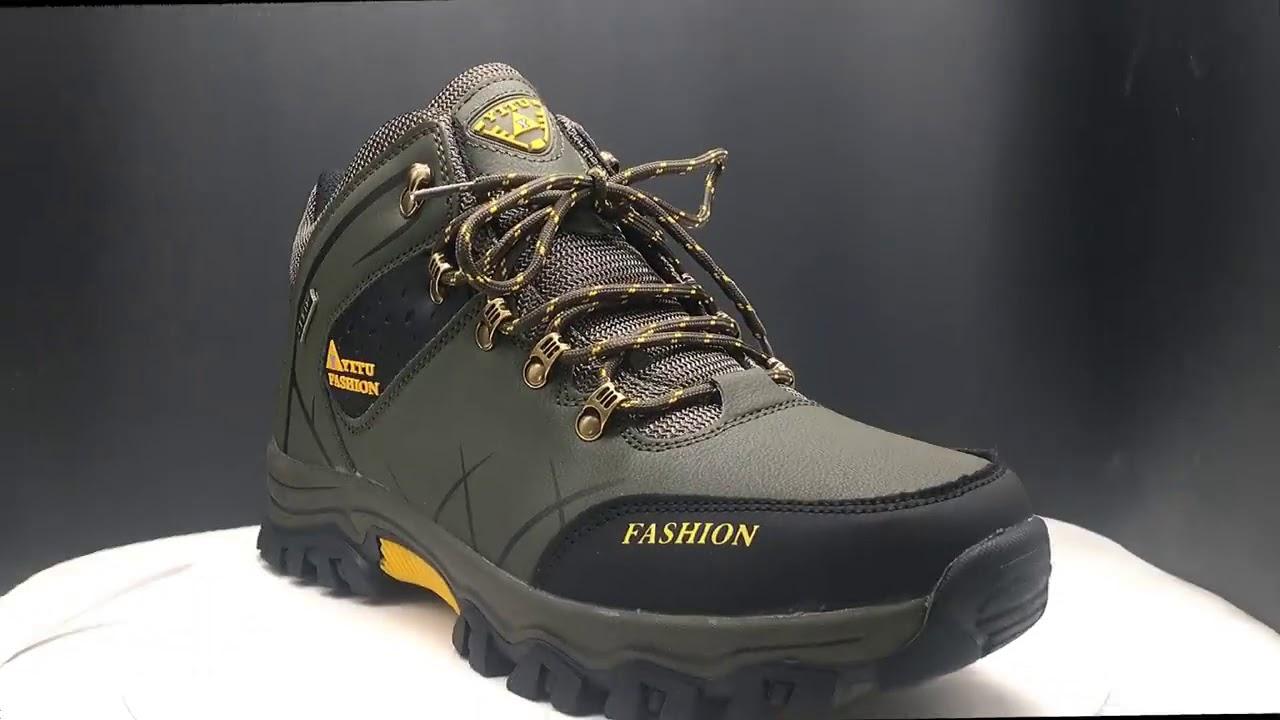 Зимние кожаные кроссовки, водонепроницаемые, теплые ботинки..
