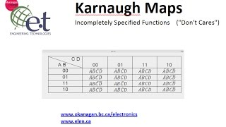 Karnaugh Maps Part 3 - Incompletely Specified Functions (Don
