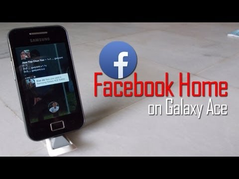 Facebook Home On Galaxy Ace