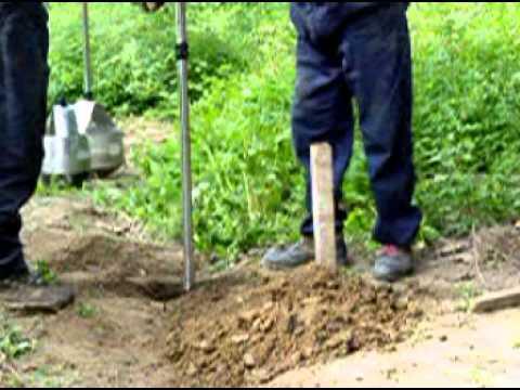 12吋電線桿專用 挖土 五金 工具 挖洞 圍欄 鑽孔 電信工程 - YouTube