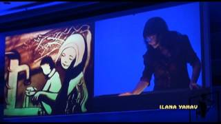 Sand art by Ilana Yahav - Making of - Behind the scenes